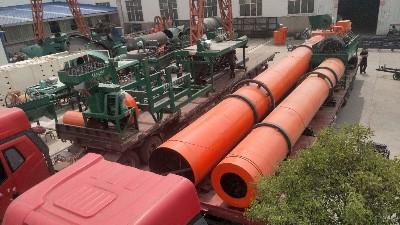年产3万吨有机肥设备发往安徽