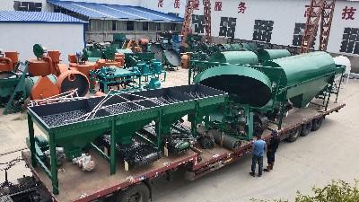 生产炭基肥的原料及生产设备流程