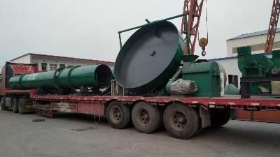 年产2万吨牛粪有机肥生产线设备发货山东